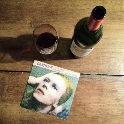 David Bowie, Wine, Life on Mars