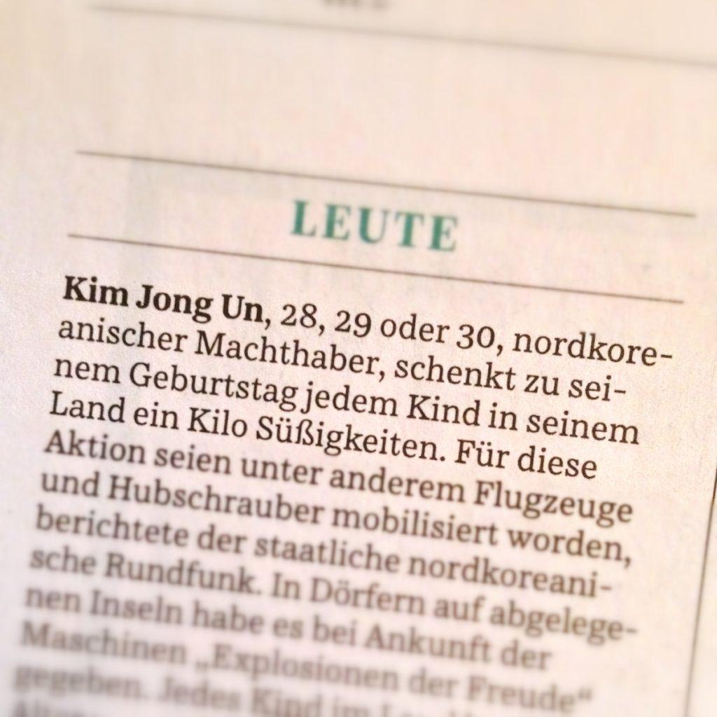 Süddeutsche Zeitung, 8. Januar 2013